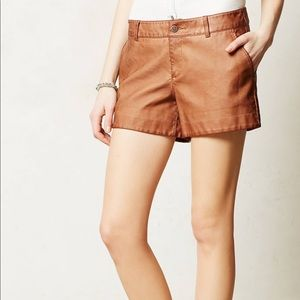 Anthropologie Pilcro Vegan Leather Texture Shorts